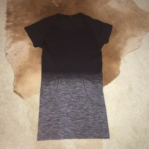 Lululemon Black Grey Ombré Swiftly Tech SS